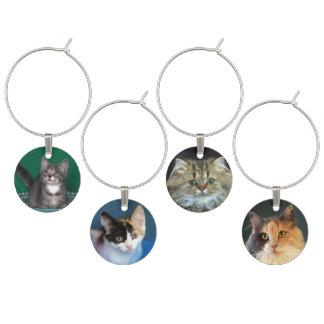 Identificador De Copa Cuatro caras del gatito y del gato