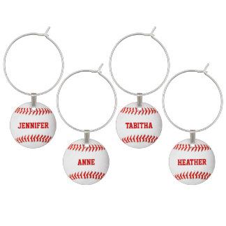 Identificador De Copa Encantos de encargo del vino del béisbol