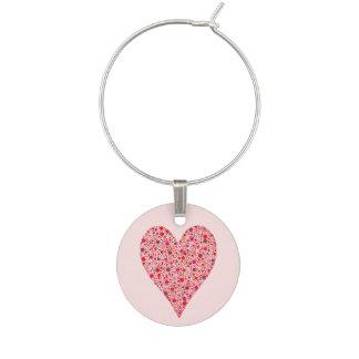 Identificador De Copa Lunares carmesís de la forma del corazón en rosa