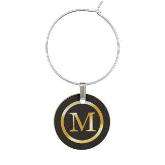 Identificador De Copa Monograma inicial del oro de M