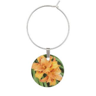 Identificador De Copa Naturaleza floral de los Daylilies anaranjados