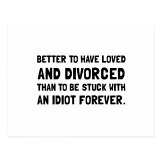 Idiota divorciado postal