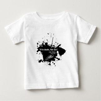 If in doubt, flat out camiseta de bebé