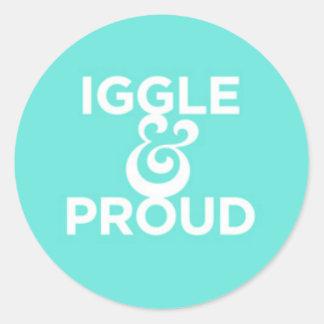 """""""Iggle y"""" pegatina orgulloso"""
