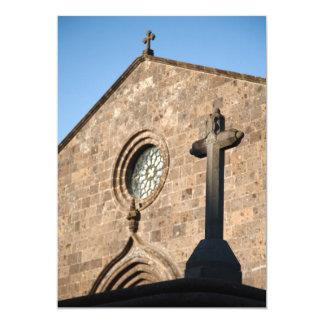 Iglesia antigua invitación 12,7 x 17,8 cm
