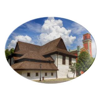 Iglesia articular de madera en Kezmarok, Fuente De Porcelana