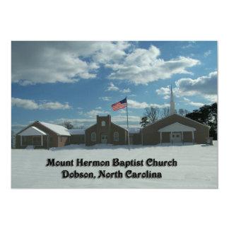 IGLESIA BAPTISTA DOBSON, Carolina del Norte del Invitación 12,7 X 17,8 Cm