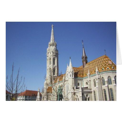 Iglesia Budapest Hungría de Matías Tarjeta