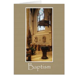 Iglesia católica de St Mary - tarjeta del bautismo