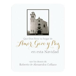 Iglesia católica española, navidad de Puerto Rico Invitación 10,8 X 13,9 Cm