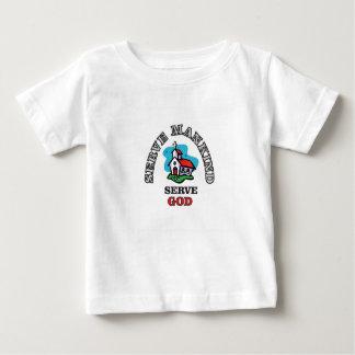 iglesia de dios del servicio camiseta de bebé