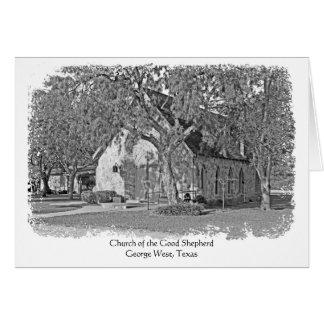 Iglesia de las buenas tarjetas de nota del pastor