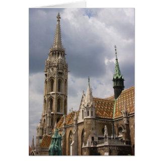 Iglesia de Matías, Budapest Tarjeta De Felicitación