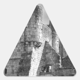 Iglesia de monasterio de York y barra de Bootham Pegatina Triangular