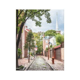 Iglesia de Philly y callejón del guijarro pequeño Lienzo