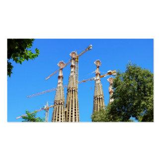 Iglesia de Sagrada Familia en Barcelona, España Tarjetas De Visita