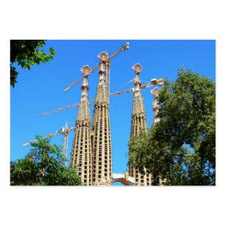 Iglesia de Sagrada Familia en Barcelona, España Tarjetas De Visita Grandes