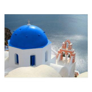 Iglesia de Santorini por la tarde Sun Postal