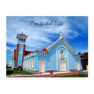 iglesia del azul del punta postal