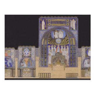 Iglesia del Espíritu Santo de Koloman Moser- en Dü Tarjeta Postal