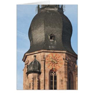 Iglesia del espíritu santo en la ciudad vieja Heid Tarjeta De Felicitación