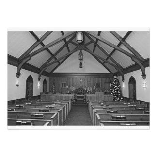 Iglesia del navidad anuncio personalizado