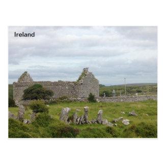 Iglesia del siglo XIII, Burren, Clare, Irlanda Postal