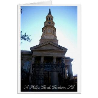 Iglesia del St. Phillips, Charleston, SC Tarjeta De Felicitación