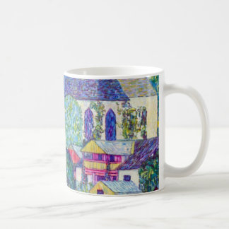 Iglesia del St. Wolfgang de Gustavo Klimt, arte Taza De Café