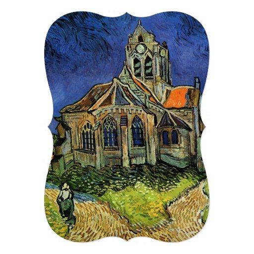 Iglesia en Auvers por Vincent van Gogh, casandose Invitacion Personal
