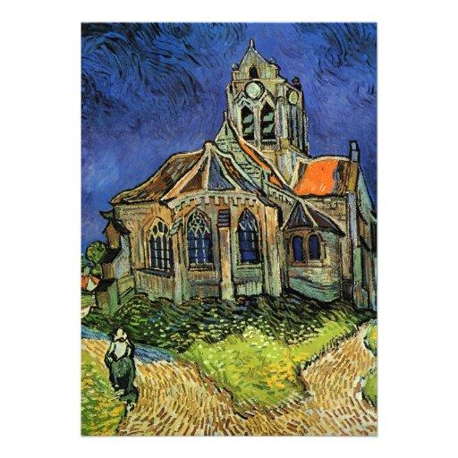 Iglesia en Auvers, Van Gogh, impresionismo del vin Invitaciones Personales