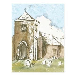 Iglesia en el país postal