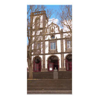 Iglesia en las islas de Azores Tarjeta