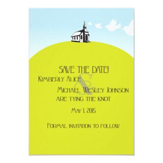 Iglesia en reserva de la colina la tarjeta de invitación 12,7 x 17,8 cm