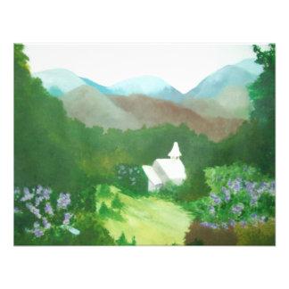 iglesia en un valle invitación