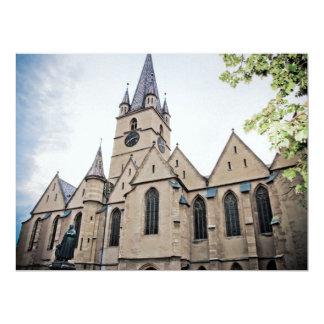 Iglesia evangélica, Sibiu Invitación 16,5 X 22,2 Cm