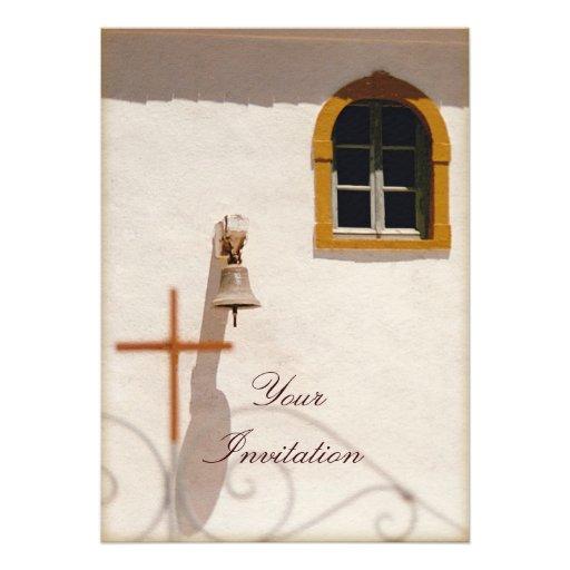 Iglesia griega con la cruz y Bell Paxos Comunicado Personal