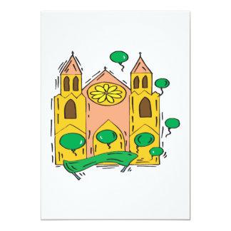 Iglesia irlandesa invitación 12,7 x 17,8 cm