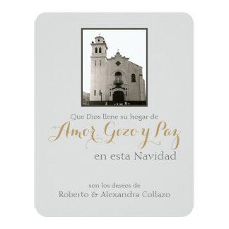 Iglesia, navidad del español de Puerto Rico Invitación 10,8 X 13,9 Cm