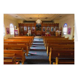 Iglesia ortodoxa griega tarjeta de felicitación