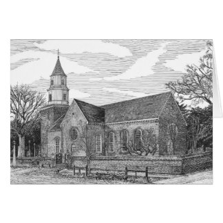 Iglesia parroquial de Bruton, Williamsburg, Tarjeta