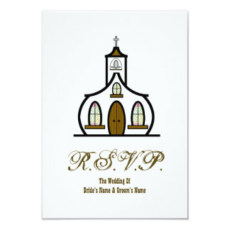 Iglesia que casa RSVP Invitacion Personalizada