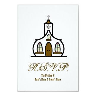 Iglesia que casa RSVP Invitación 8,9 X 12,7 Cm