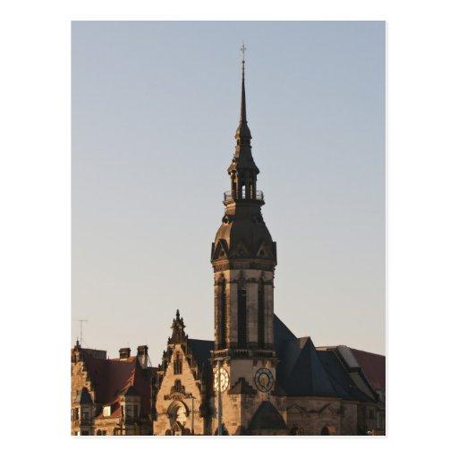 Iglesia reformada Leipzig, Alemania Tarjeta Postal