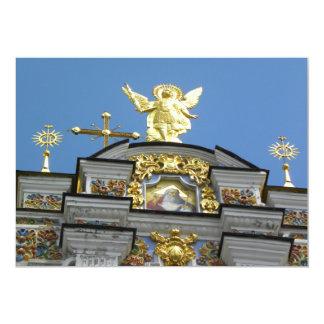 Iglesia ucraniana invitación 12,7 x 17,8 cm