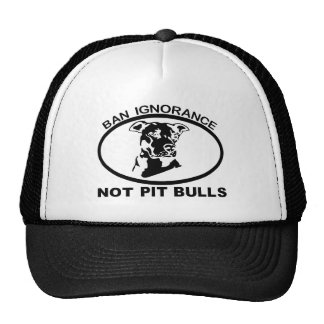 IGNORANCIA NO PITBULL DE LA PROHIBICIÓN PITBULL GORROS BORDADOS