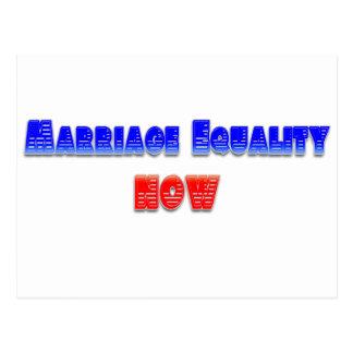 ¡Igualdad de la boda ahora! Postal