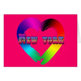 Igualdad de la boda en el diseño de Nueva York Tarjeta De Felicitación