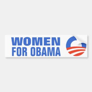 Igualdad de salario de las mujeres para Obama 2012 Pegatina Para Coche