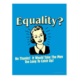 Igualdad: Tome a los hombres alcanzan demasiado de Postal